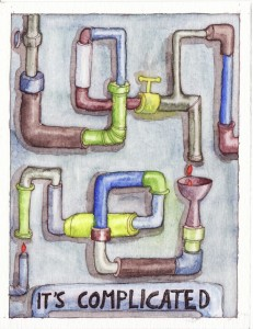 Watercolor and pen - July 2013